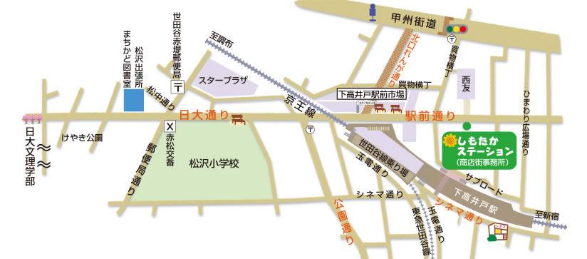 下高井戸商店街の略図